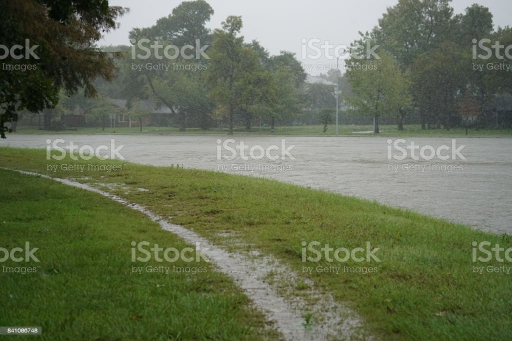 Flooded Watershed stock photo