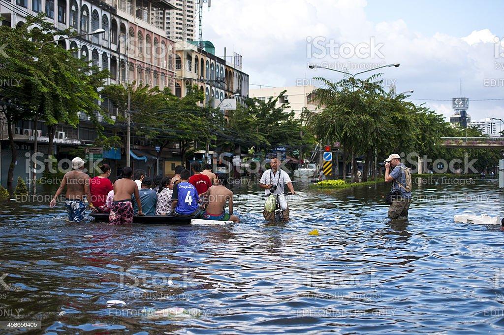 Flooding in Bangkok stock photo