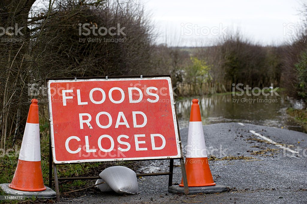 Flooding in England stock photo