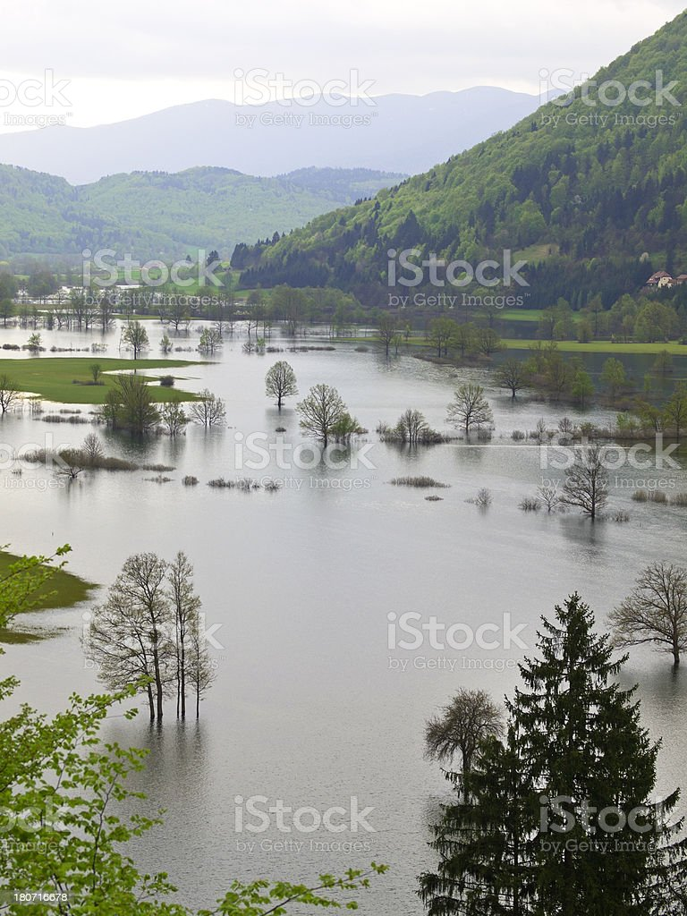 Flooding lands royalty-free stock photo