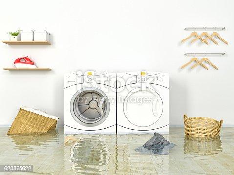 487597124 istock photo Flooding Laundry room 623865622