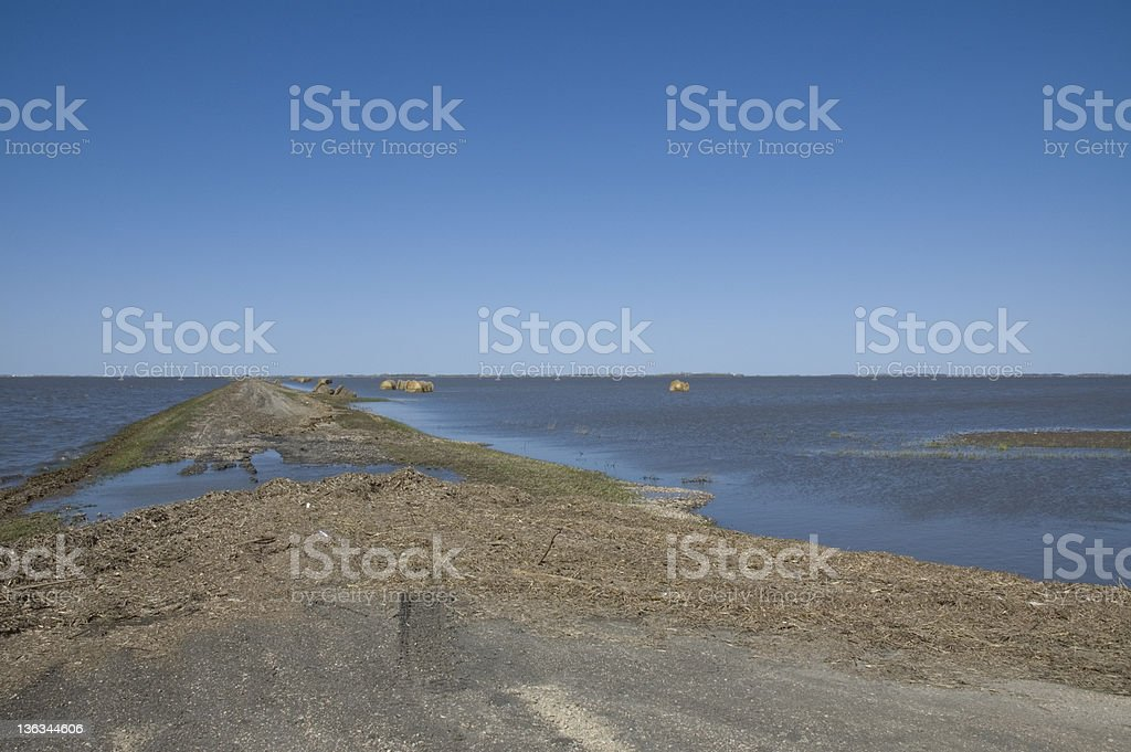 Flooding of the Red River, Manitoba stock photo