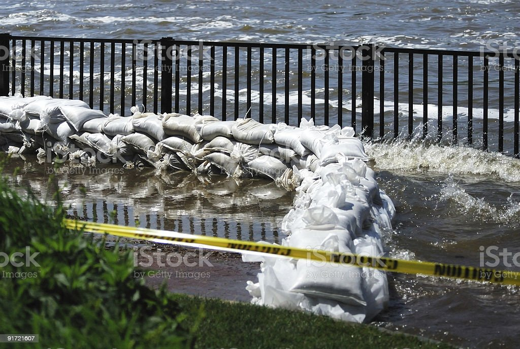 Flooding on the River stock photo