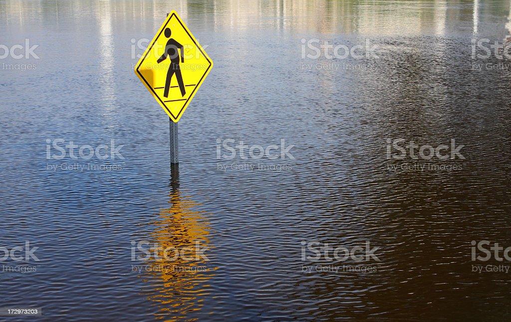 Flooding royalty-free stock photo
