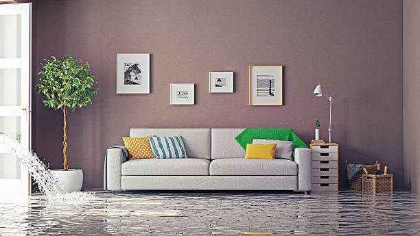 flooding - flooded room stock photos and pictures