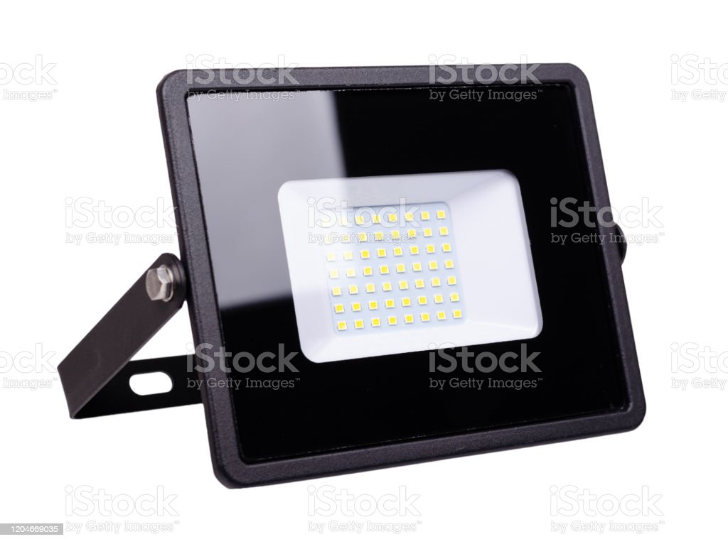 Image of: Led Floodlight Outdoor Light Equipment Isolated On White Stock Photo Download Image Now Istock