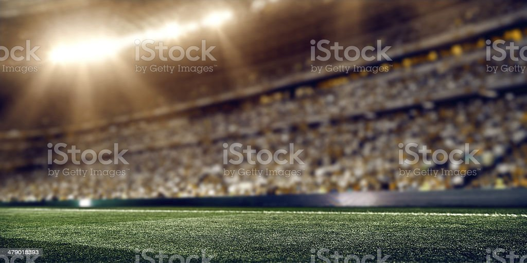 Floodlight soccer stadium of professional league stock photo