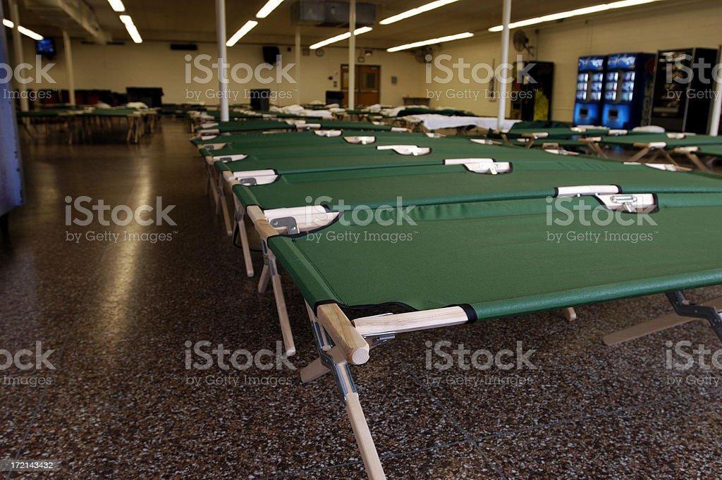 Flood-NJ shelter cots stock photo