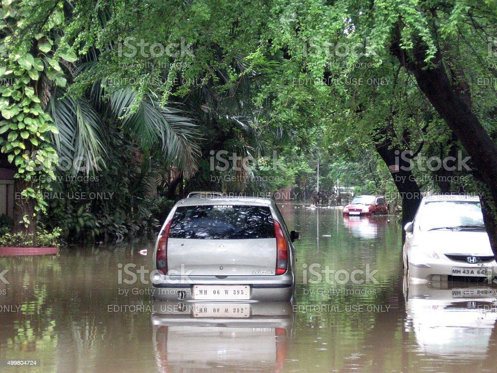 Floods in India stock photo