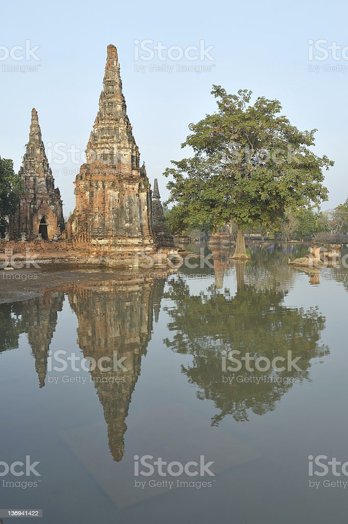 Floods November 2011  in Thailand royalty-free stock photo