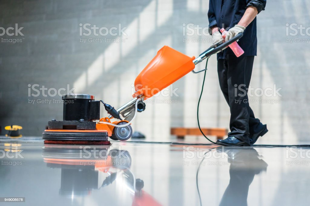 floor care machine - Royalty-free Adult Stock Photo