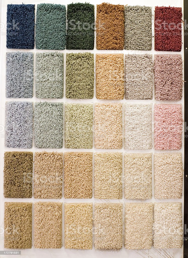 Floor carpet samples - color palette royalty-free stock photo