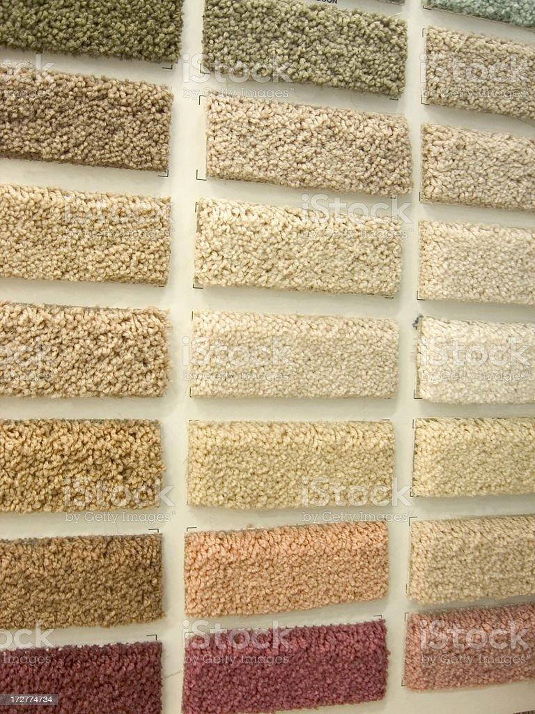 Floor carpet samples - home improvement royalty-free stock photo