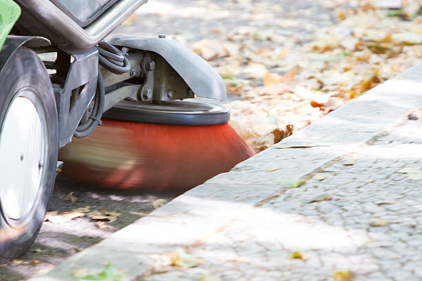 floor cleaner Floor sweeping machine street sweeper stock pictures, royalty-free photos & images