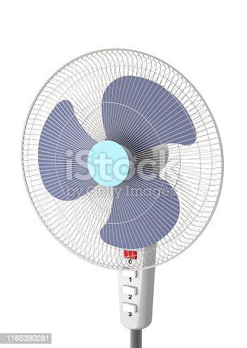istock Floor fan on a white background (close-up, 3d illustration). 1165390281