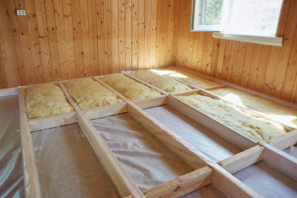 Floor heating insulation stock photo