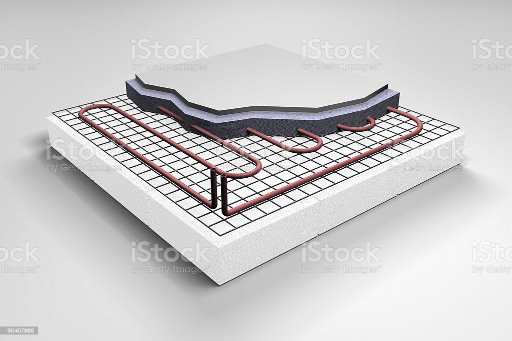 Floor Heating system royalty-free stock photo
