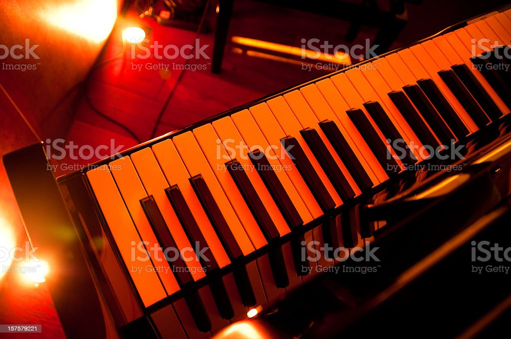 piano in a pianobar royalty-free stock photo