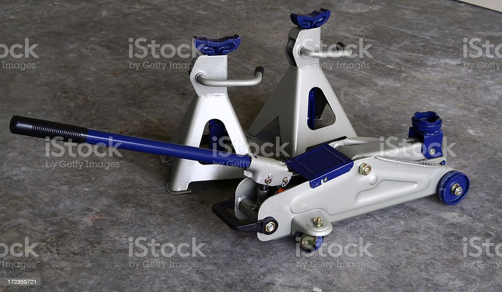 Floor Jack and Stands royalty-free stock photo