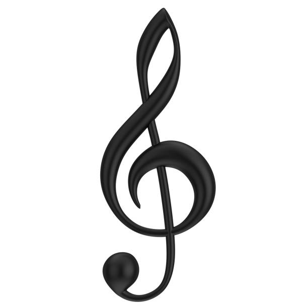Floor key Une simple clef de sol. musical note stock pictures, royalty-free photos & images