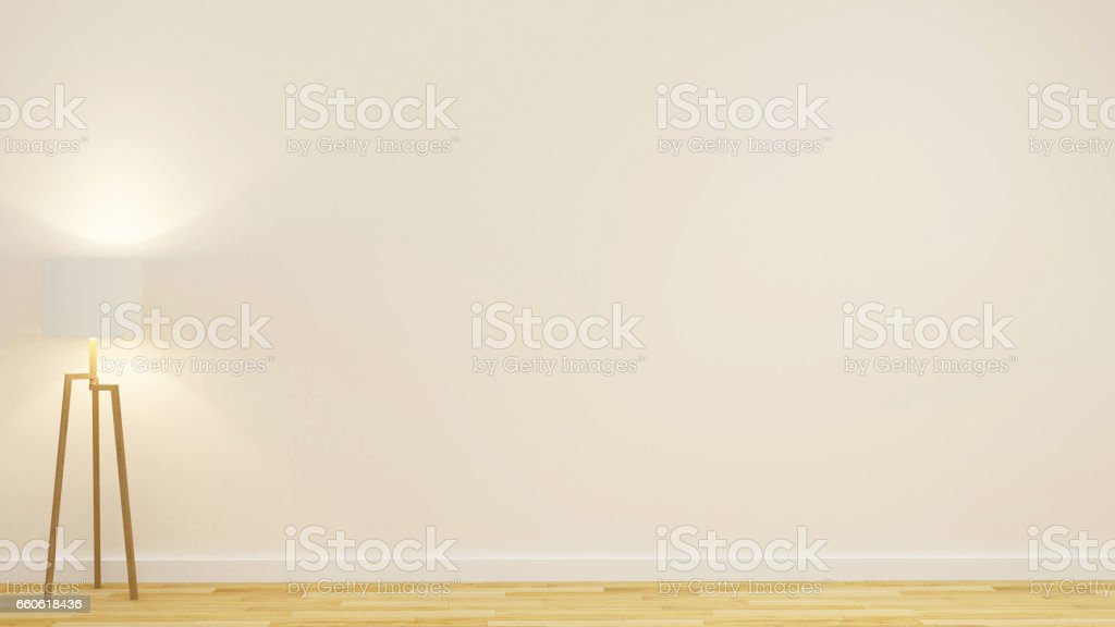 floor lamp in empty room for artwork royalty-free stock photo