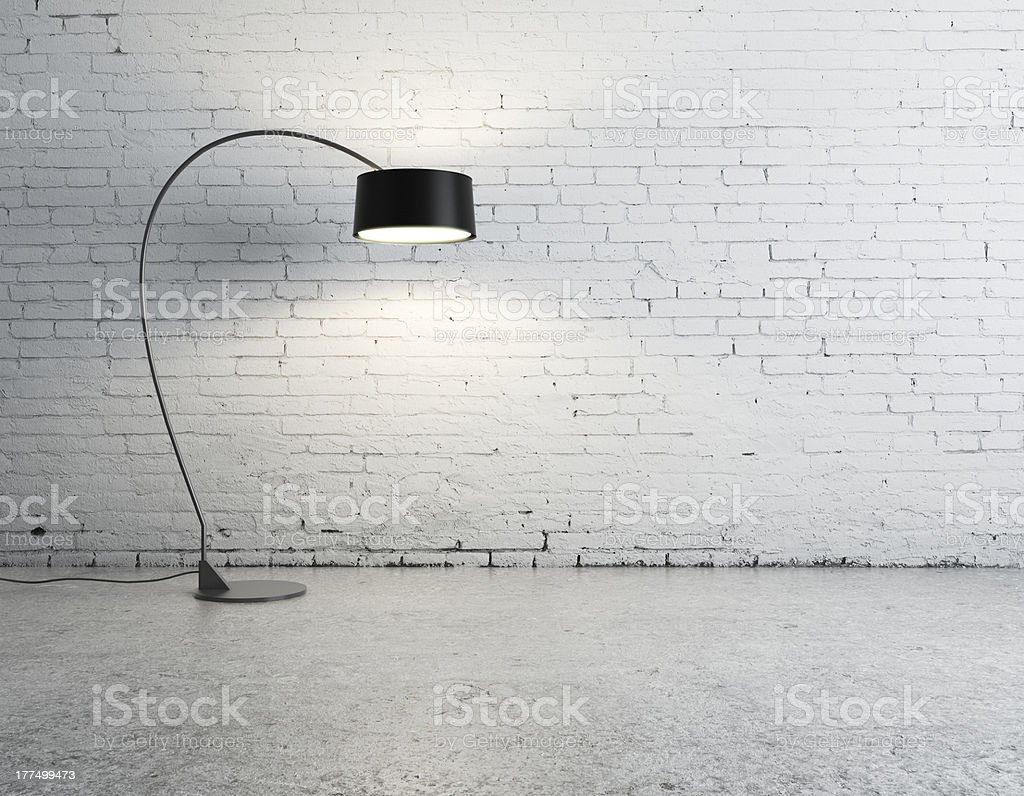 floor lamp in room stock photo