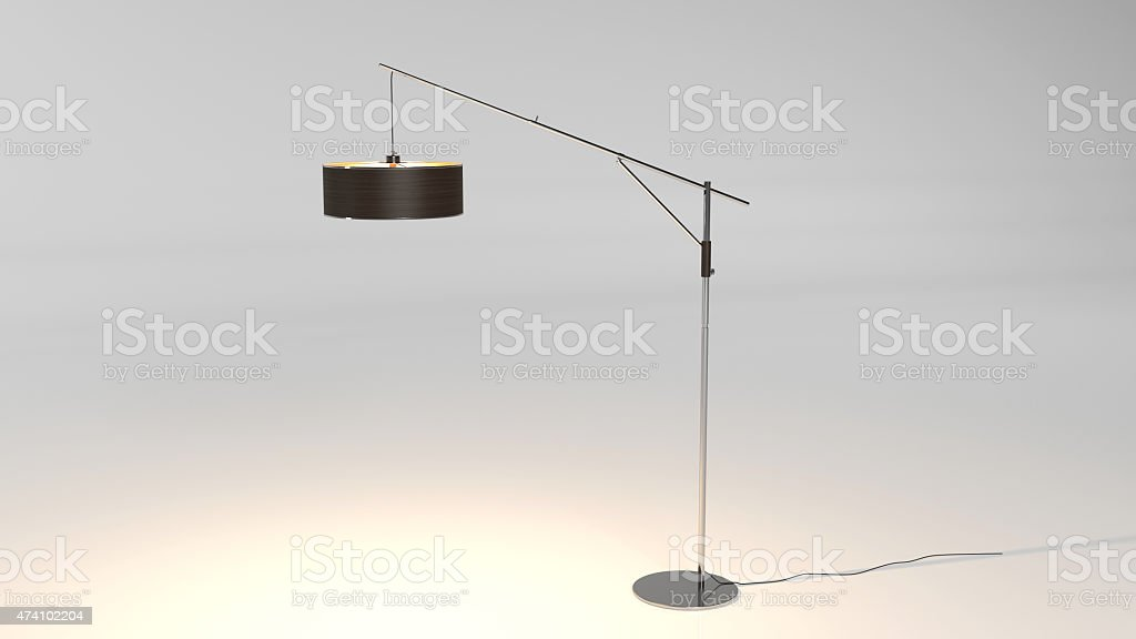 Floor Lamp isolated on white background stock photo