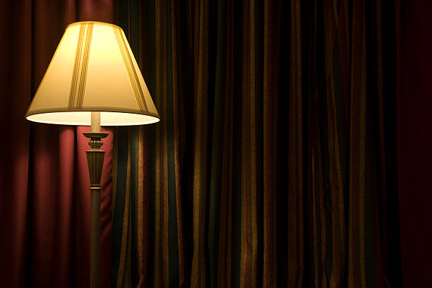 floor lamp - low lighting stock photos and pictures