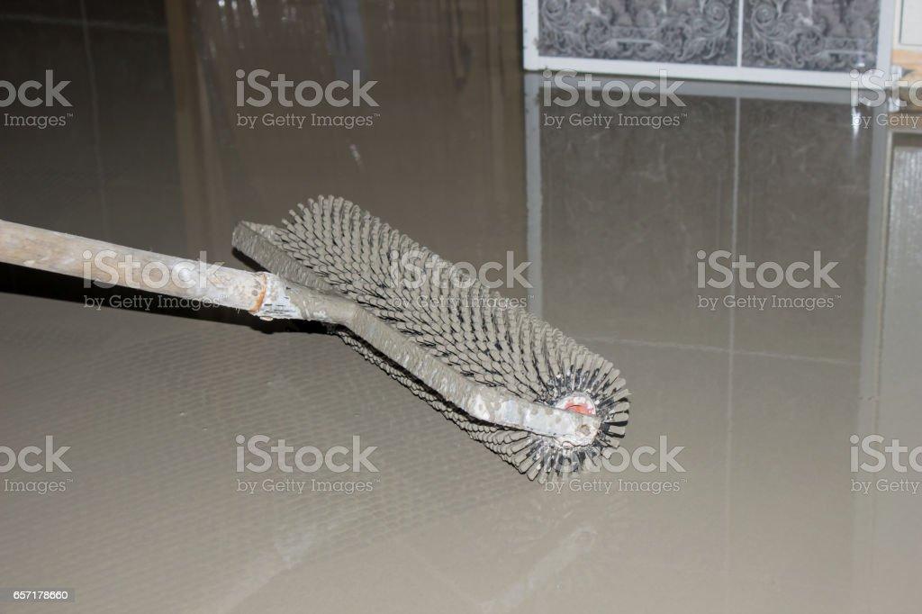 Floor leveling stock photo