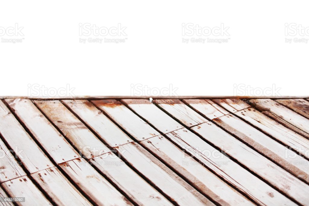 Floor made of wood planks on the White background - foto de stock