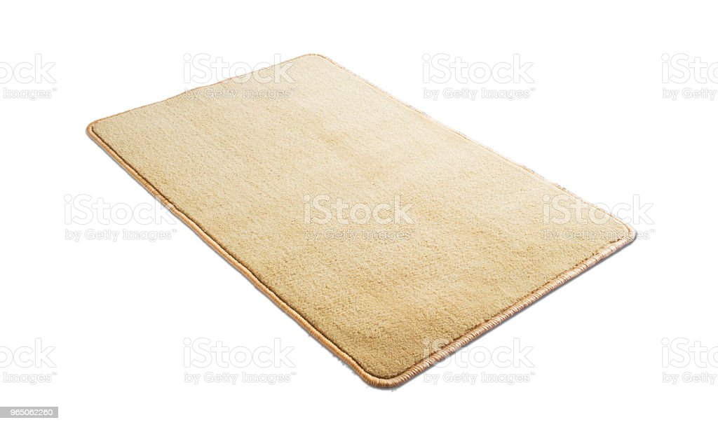 Floor mat on a white background zbiór zdjęć royalty-free