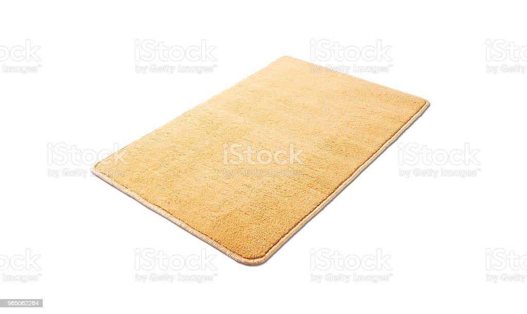 Floor mat on a white background zbiór zdjęć royalty-free