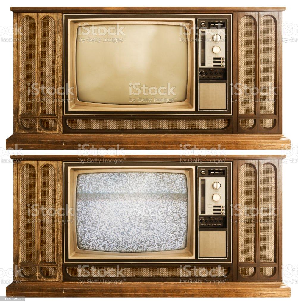 Floor Model Television royalty-free stock photo