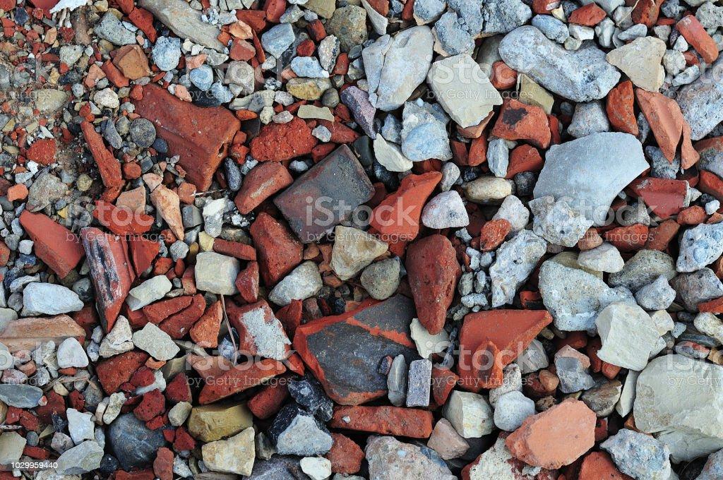 Boden einer Baustelle mit Bauschutt – Foto