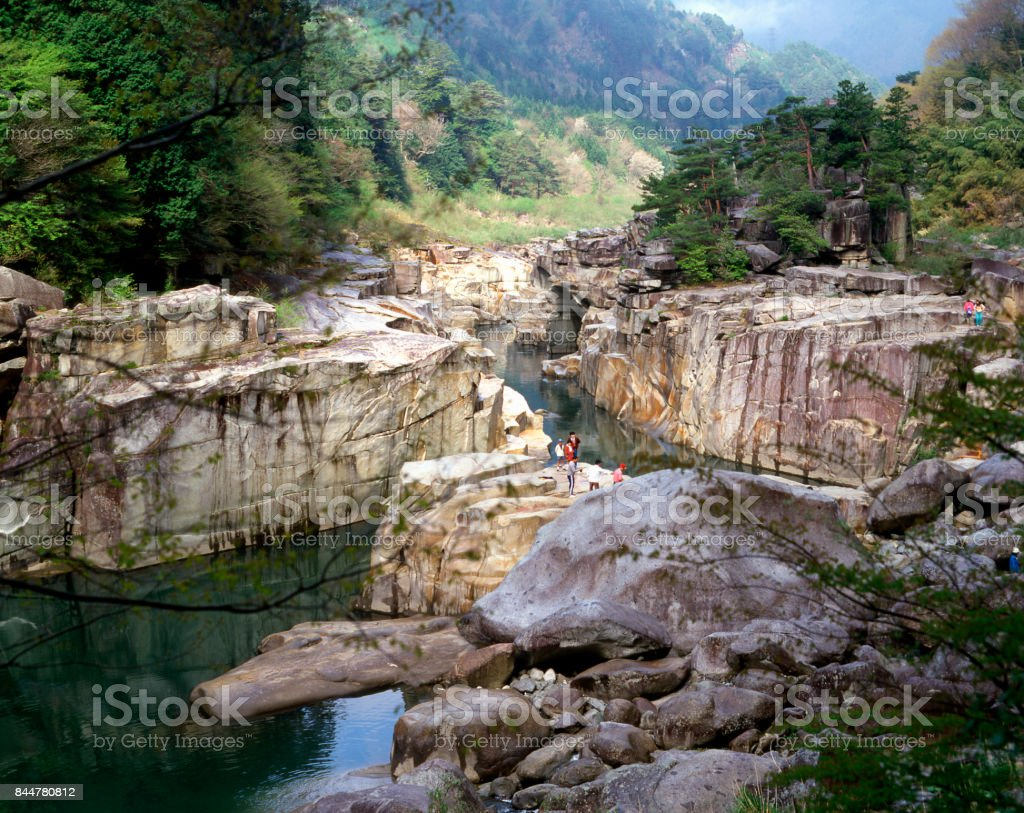Floor of the Kiso River and nezame stock photo