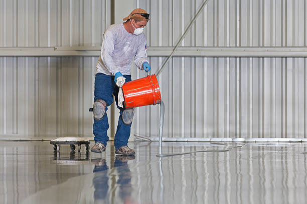 floor painting - construction workwear floor bildbanksfoton och bilder