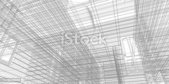 istock Floor plan drawing. Architectural building drawing. 1178006958