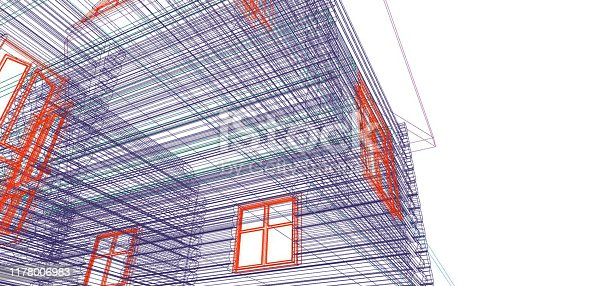 istock Floor plan drawing. Architectural building drawing. 1178006983