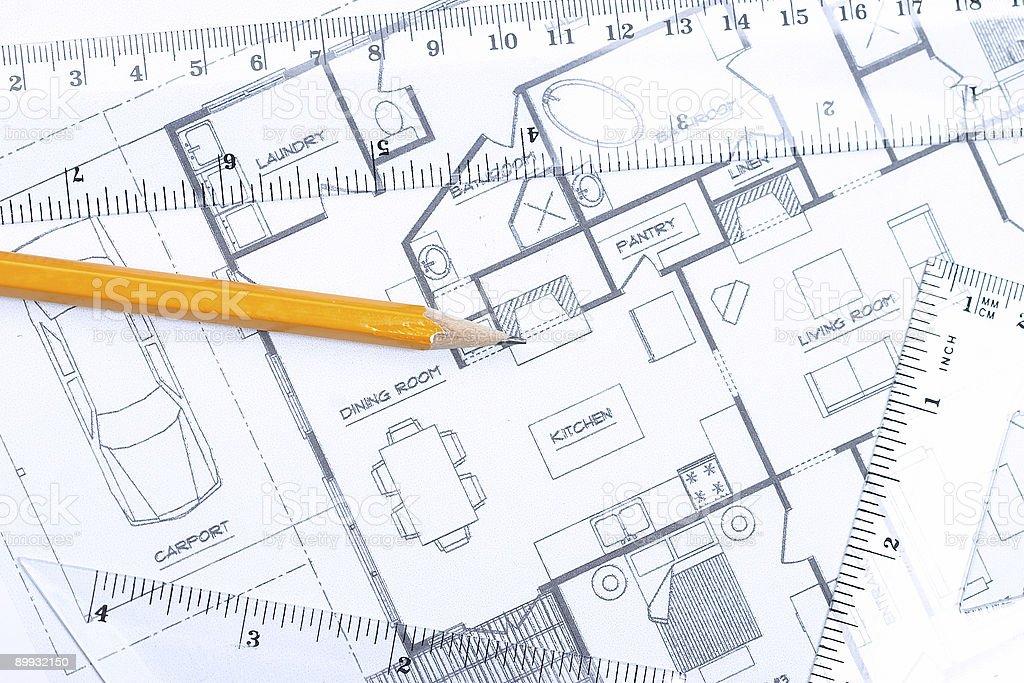 Floor plan [horizontal] royalty-free stock photo