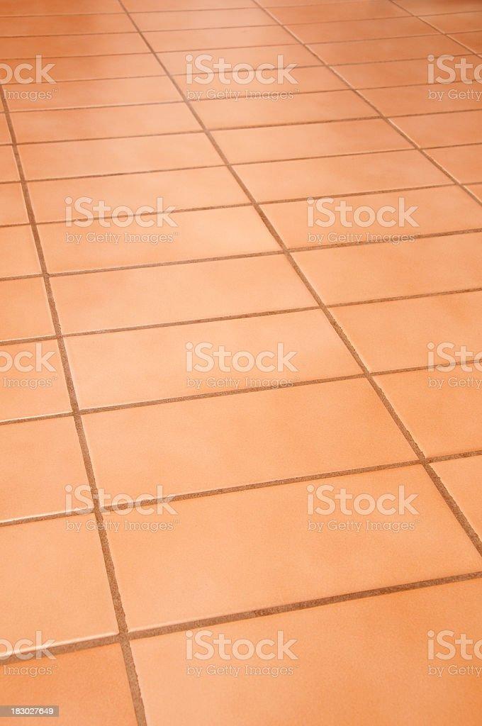Floor rectangular terracotta tiles full frame background royalty-free stock photo