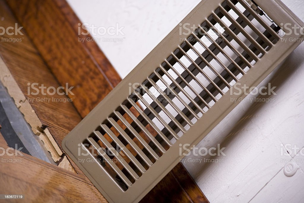 Floor Register Heating Vent royalty-free stock photo