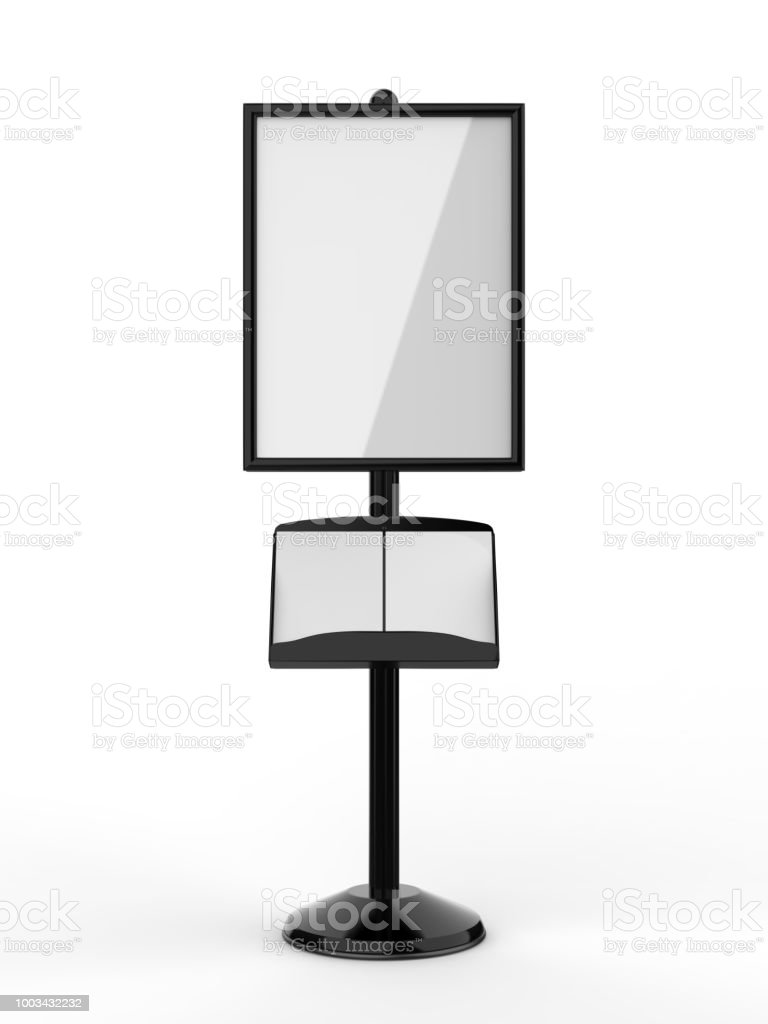 Floor Standing Poster Display Holder Snap Frame Stand Advertisement