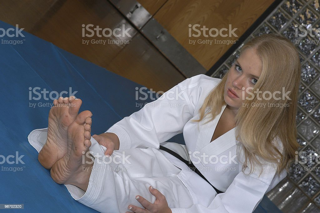 Floor stretch royalty-free stock photo