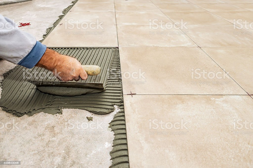 Floor Tile Installation Stock Photo More Pictures Of Adult Istock