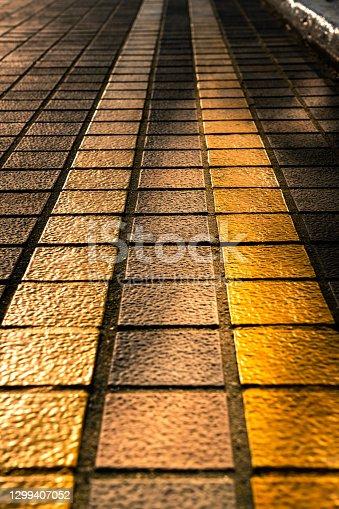 istock Floor tile street 1299407052
