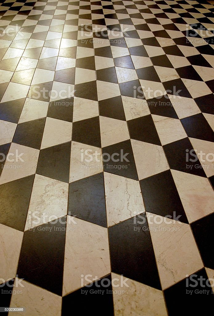 Floor Tiles 3d Checkerboard Pattern Stock Photo More Pictures Of