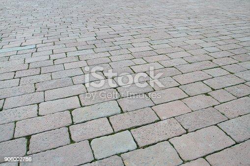 istock Floor tiles of Fontana di Piazza Castello 906002786