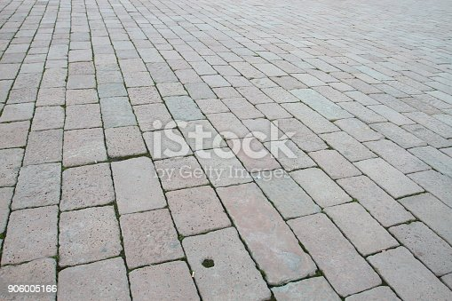 istock Floor tiles of Piazza di castello 906005166