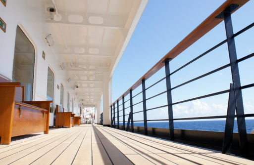 Floor View of a Cruise Ships Promenade Deck
