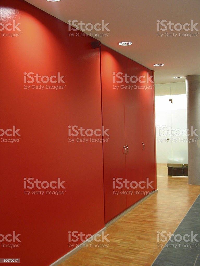 floor with red wall royalty-free stock photo